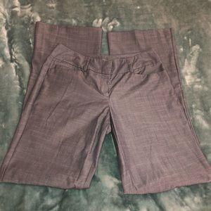 NY&C shimmery Blue Wide-Leg dress Pants - size 2